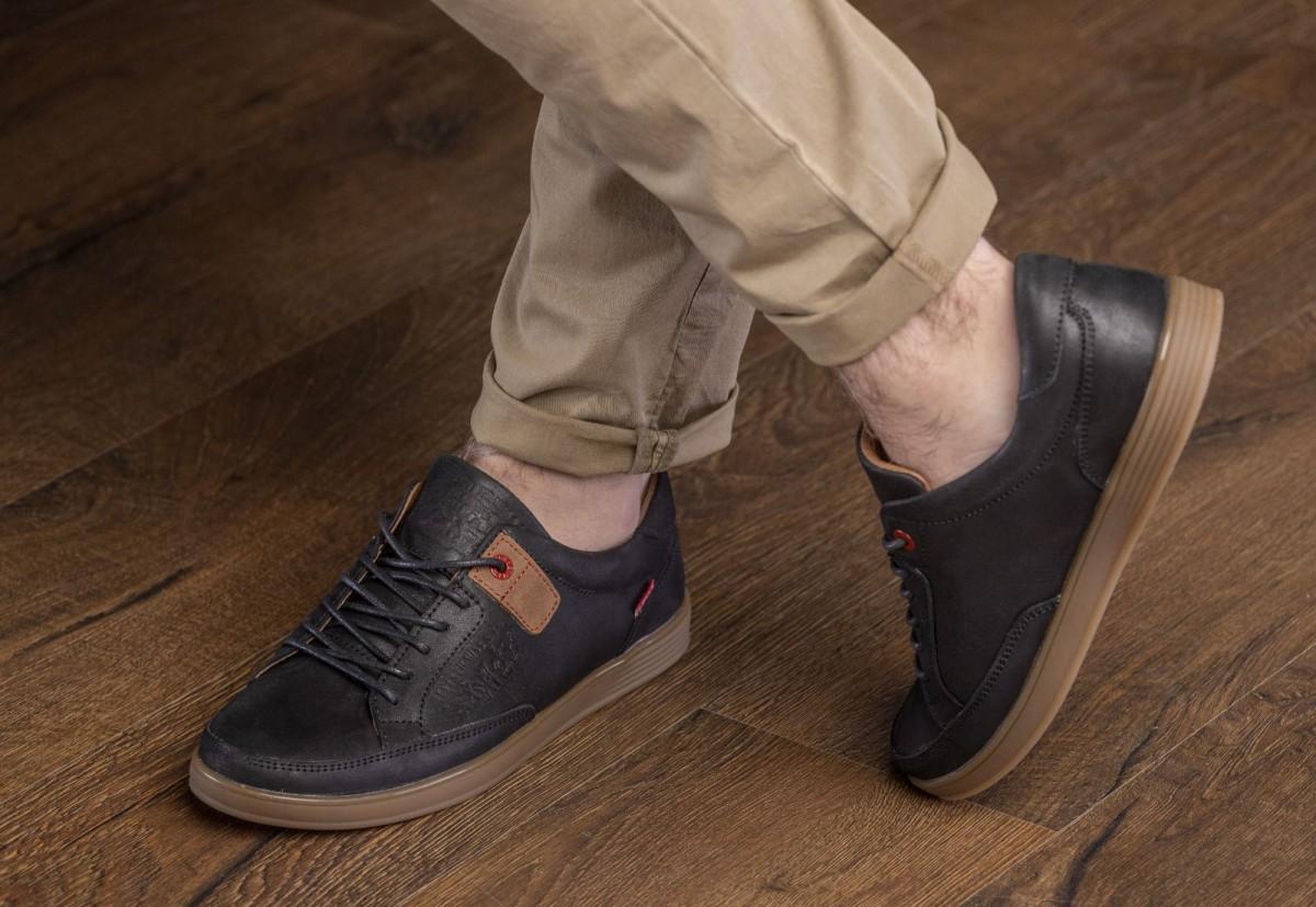 Кеды кроссовки мужские кожаные Levis California на креповой подошве