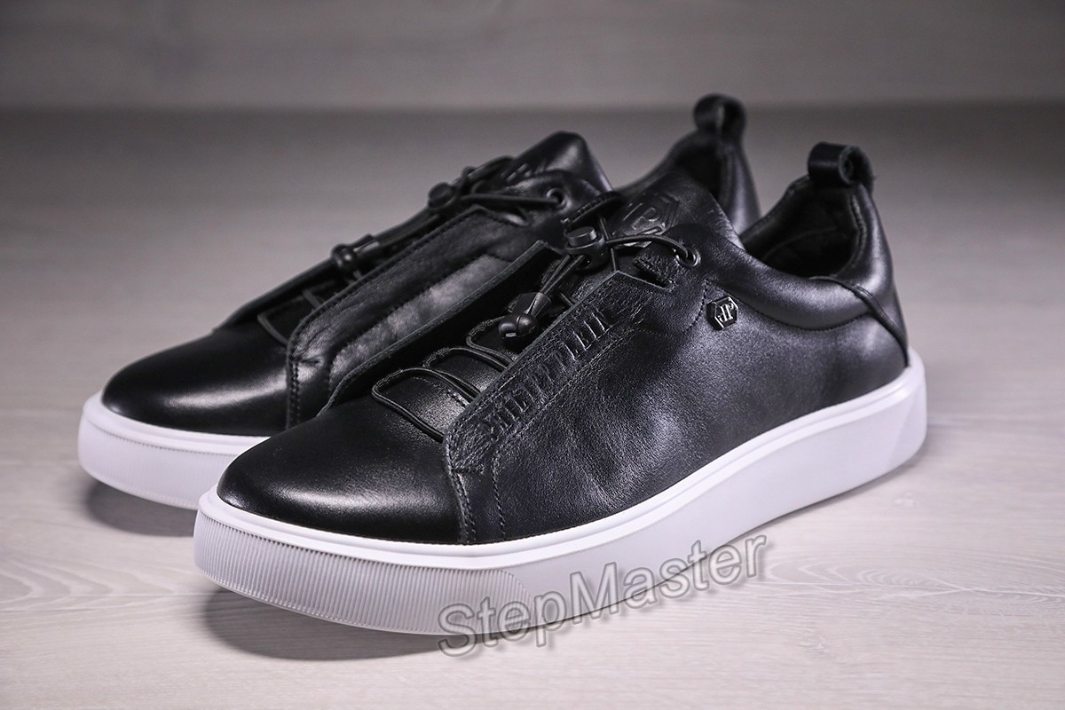 Кожаные мужские кеды кроссовки Philipp Plein Modern