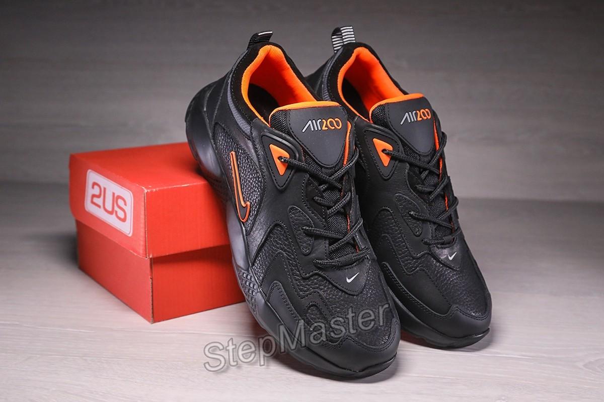 Кроссовки мужские кожаные Nike Air Power Black-Orange