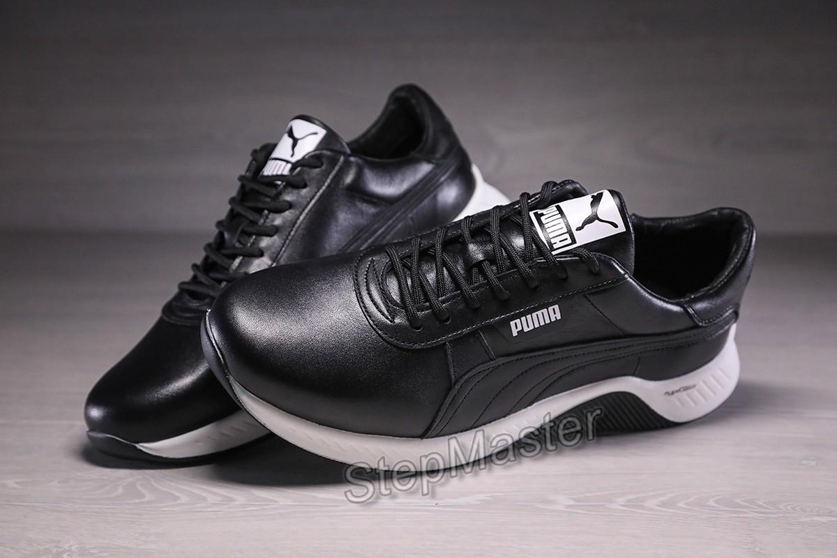 Кроссовки мужские кожаные Puma Fast Race Black Leather