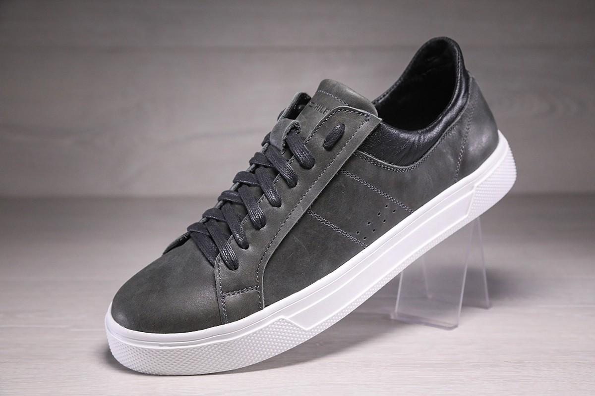 Кроссовки кеды мужские кожаные Tommy Hilfiger Grey Sneaker