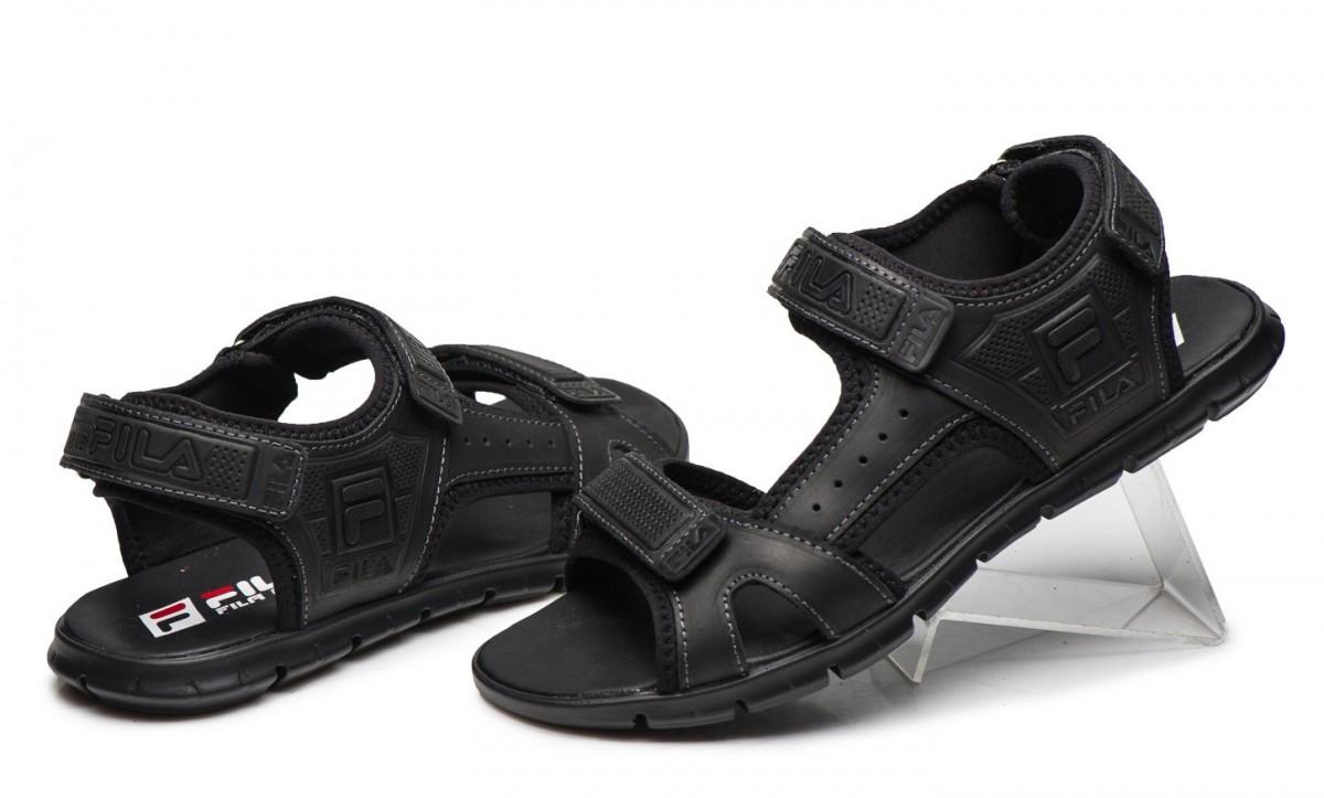 Сандалии мужские кожаные Fila черные
