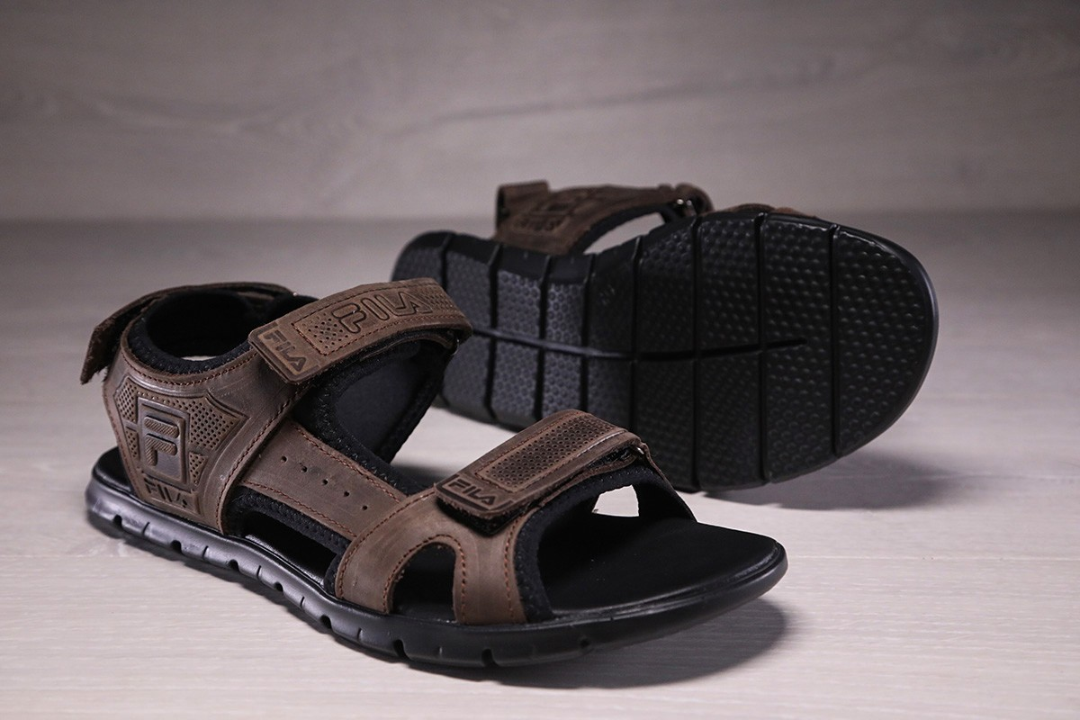 Сандалии мужские кожаные Fila коричневые