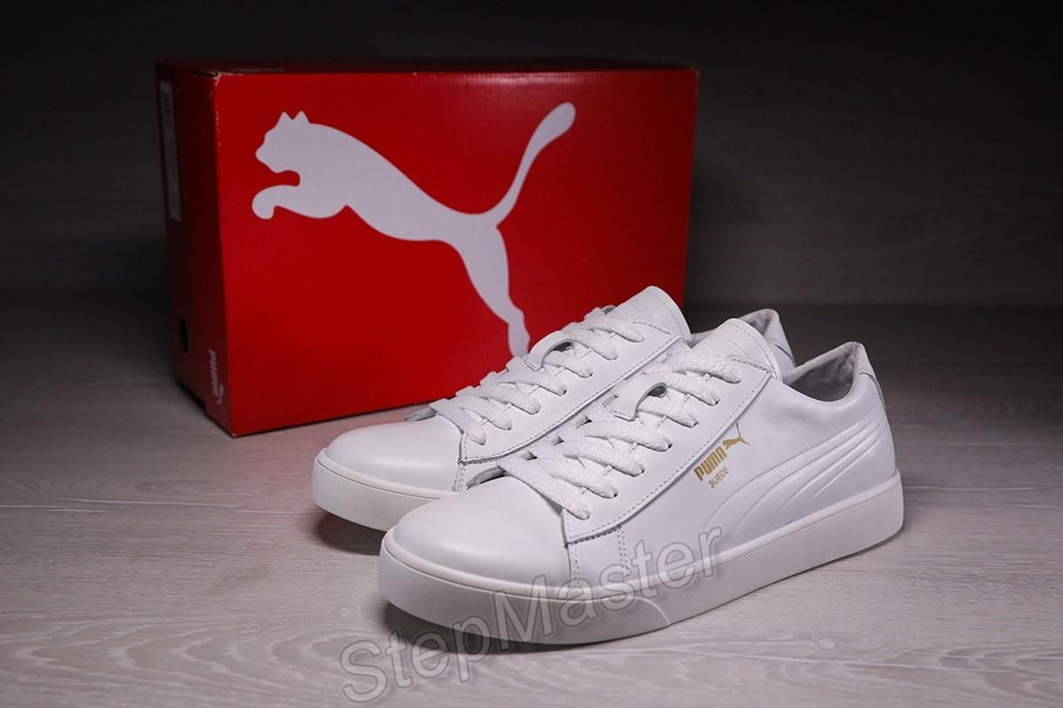 Кеды кожаные мужские Puma Suede Classic White