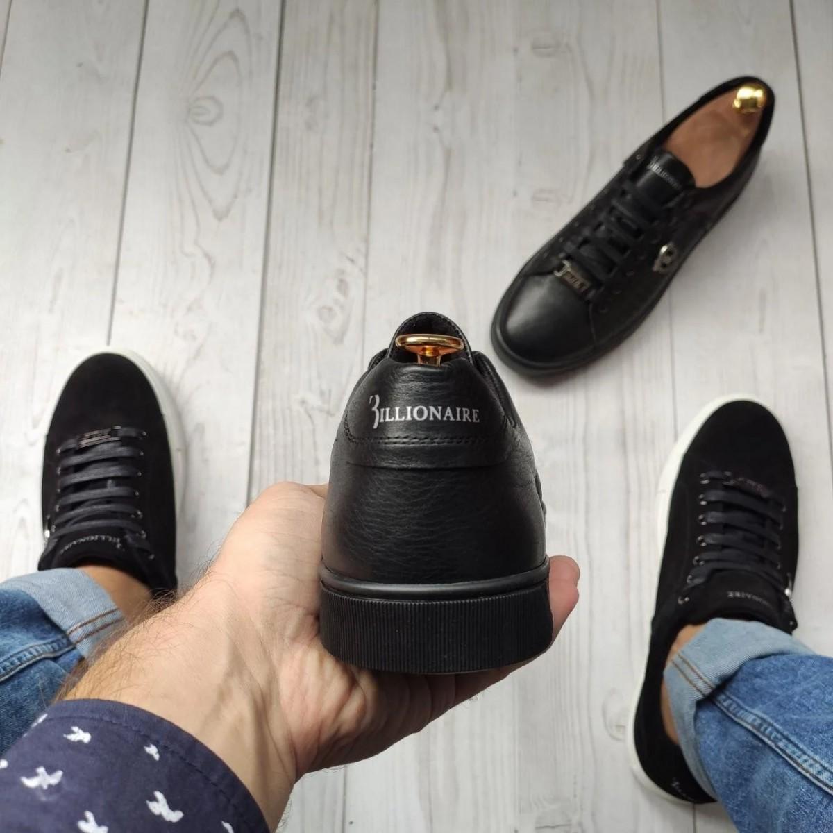 Кеды кроссовки мужские кожаные Billionaire Embossed Leather