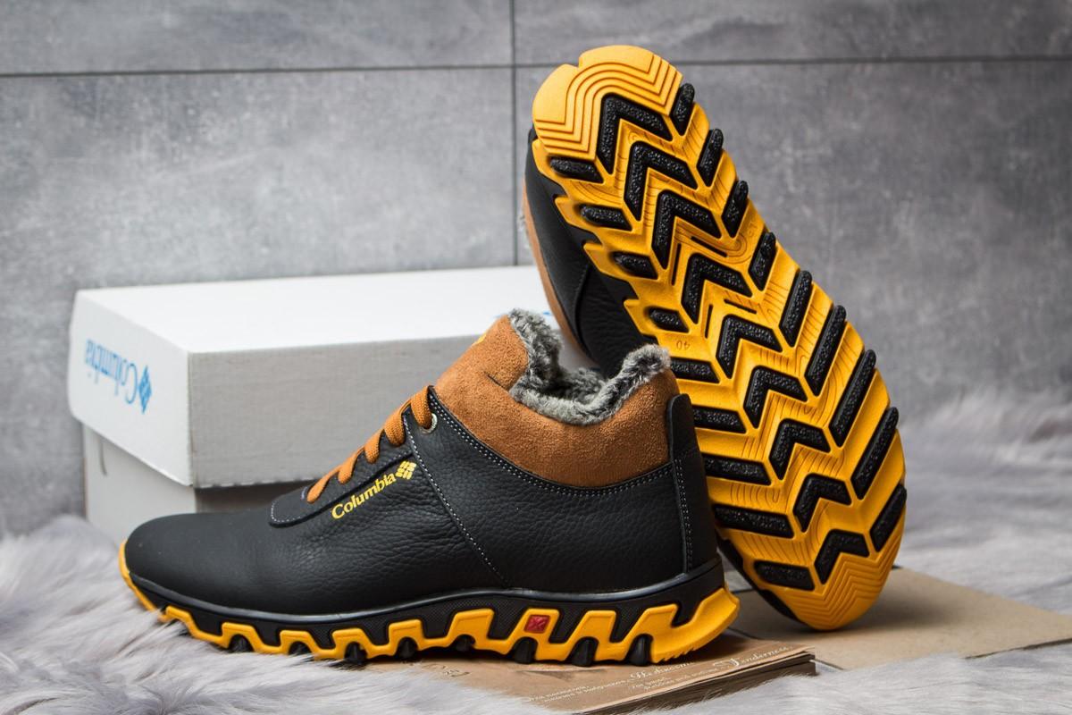 Зимние мужские кроссовки ботинки Columbia Track II Black-Brown