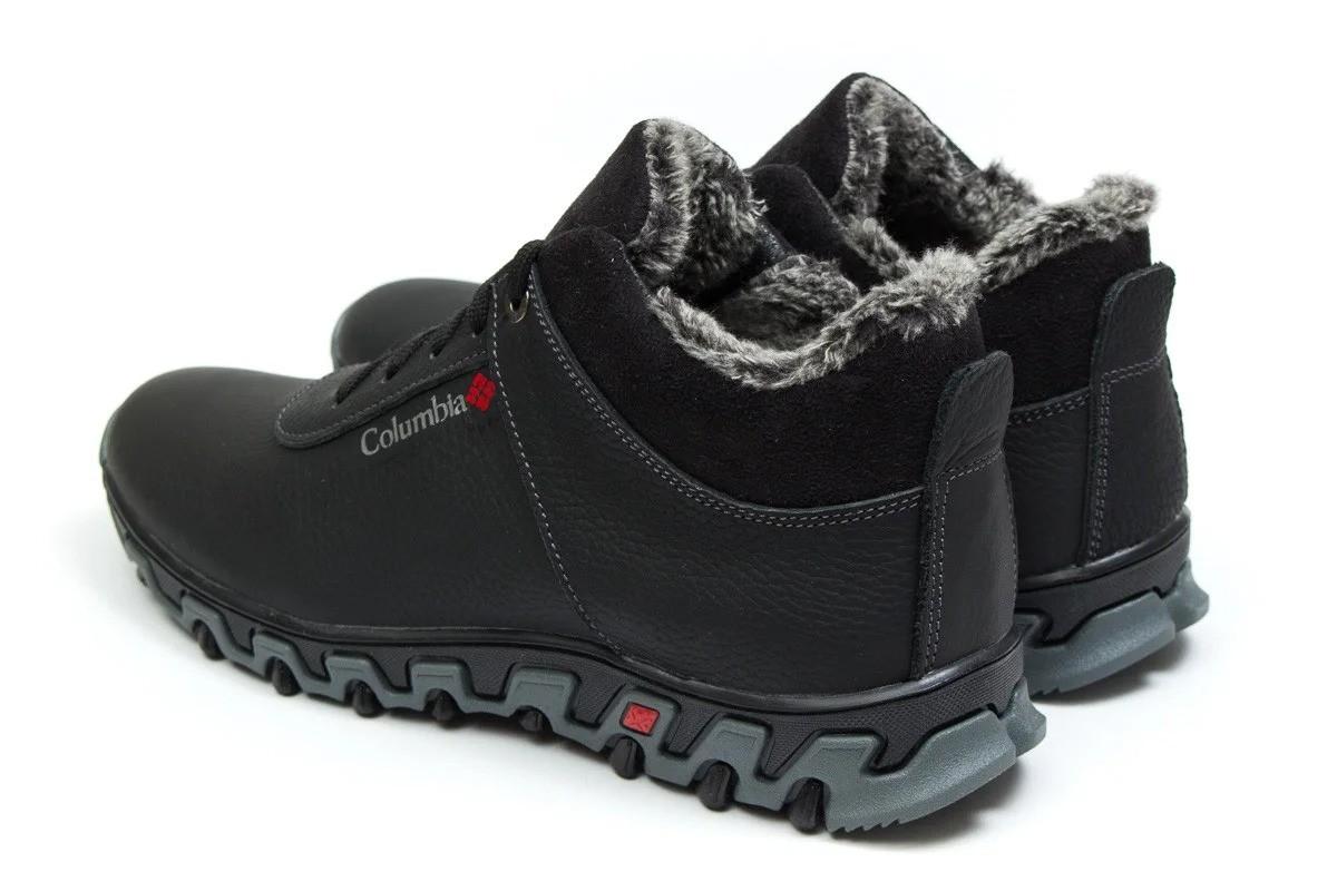 Зимние мужские кроссовки ботинки Columbia Track II Black-Grey