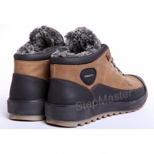 Мужские кожаные ботинки ECCO Yak Biom Olive