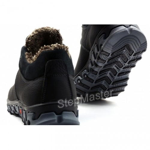 Кроссовки кожаные зимние Columbia Black-Grey