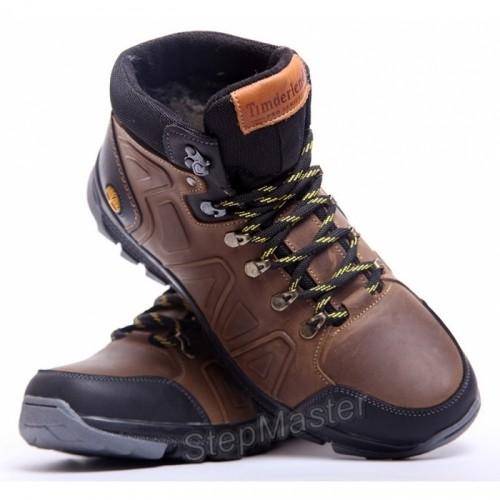 Ботинки кожаные зимние Timberland Pro-Men Olive