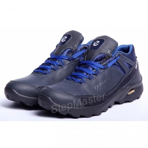 Зимние кожаные кроссовки ECCO Motion GTX Aero Blue