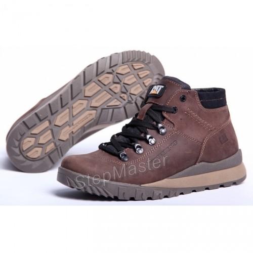Ботинки зимние CAT Nubuck Brown