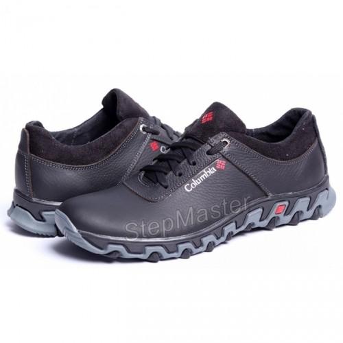 Кроссовки кожаные Columbia Track Black-Grey