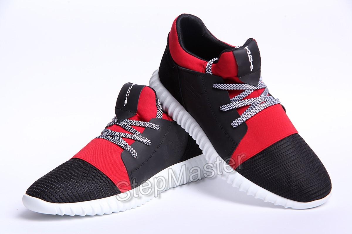Кроссовки Adidas Tubular Black-Red