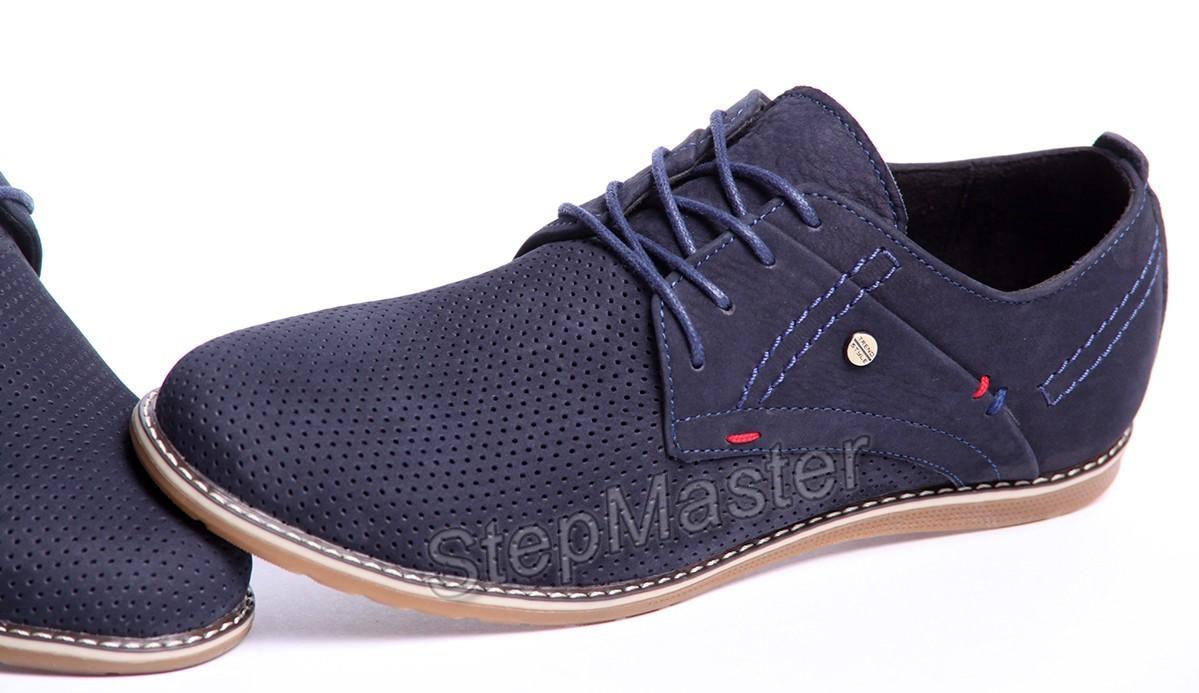 Туфли Clarks sheridan - натуральный нубук с перфорацией